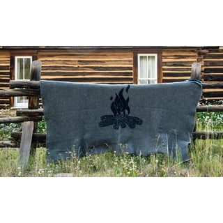 Cabin Collection Blanket in Navy/Gray Preview