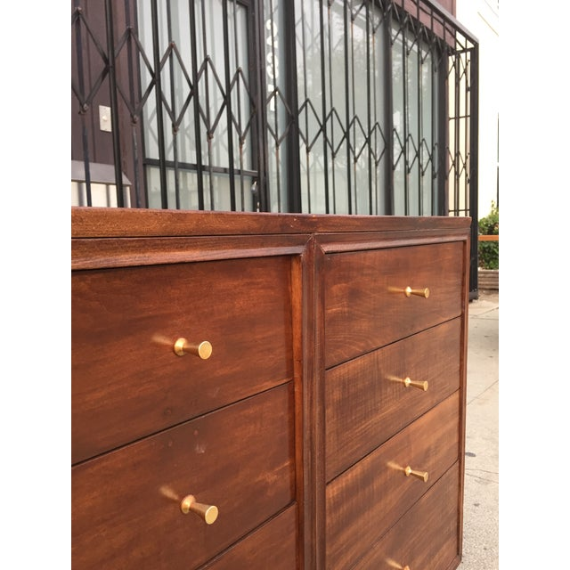 Mid Century Lowboy With Dotted Brass Knobs For Sale - Image 9 of 13