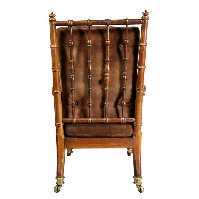 George IV Rosewood Bergere Chair by Gillows For Sale - Image 10 of 12