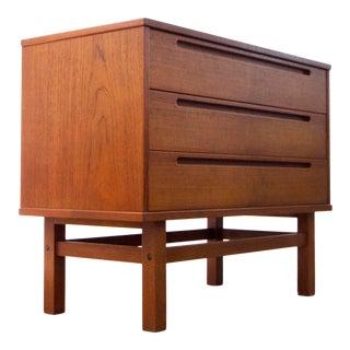 Kai Kristiansen 3-Drawer Teak Dresser for Hjn Møbler For Sale