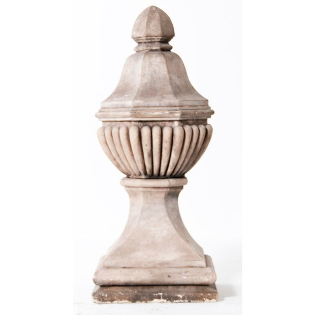 French 1920s Vintage Stone Finials - a Pair For Sale - Image 3 of 6