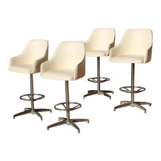 Mid-Century Viko Baumritter Bar Stools - Set of 4 For Sale