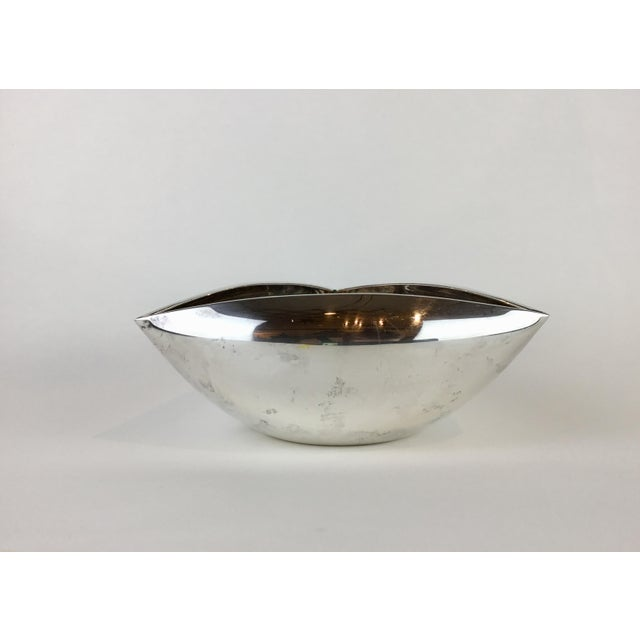 Italian Triangular Pampaloni Silver Plate Bowl For Sale In Los Angeles - Image 6 of 11