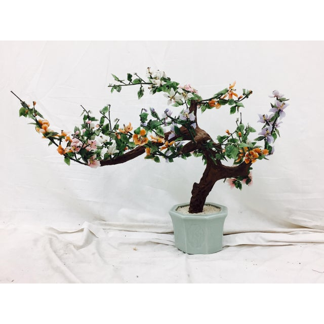 Vintage Mixed Stone Bonsai Tree Sculpture - Image 5 of 11