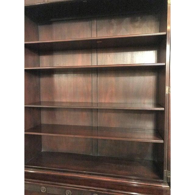 Georgian Style Baker Furniture Company Breakfront Bookcase Cupboard - Image 3 of 8