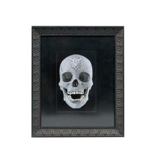 Contemporary Diamond Skull 'For the Love of God' Framed Print by Artist Damien Hirst For Sale