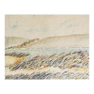 Color Lithograph Landscape by Kleinrock For Sale