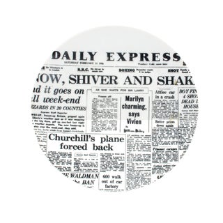 Piero Fornasetti Newspaper Plate, Daily Express, Giornali (Newspapers) For Sale