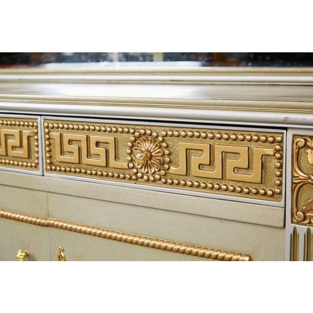 1970s Greek Revival Versace Style Modernist Server With Mirror, Circa 1970 For Sale - Image 5 of 10
