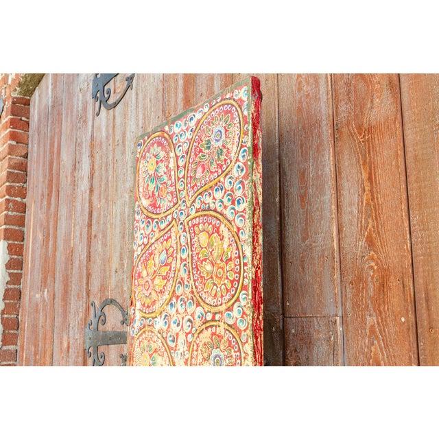 White Antique Kunchen Tibetan Door For Sale - Image 8 of 11