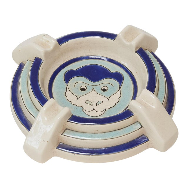 1930s Antique French Ceramic Ashtray/Catchall For Sale