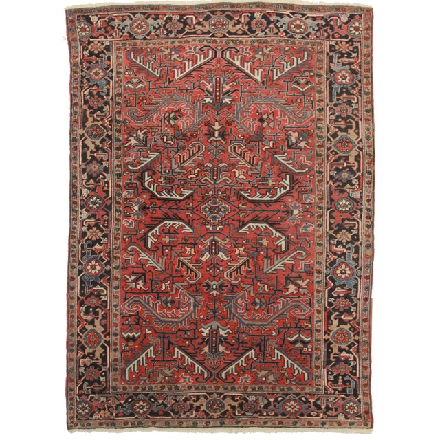Hand-Knotted Wool Persian Hariz Rug - 7′ × 10′ - Image 1 of 2