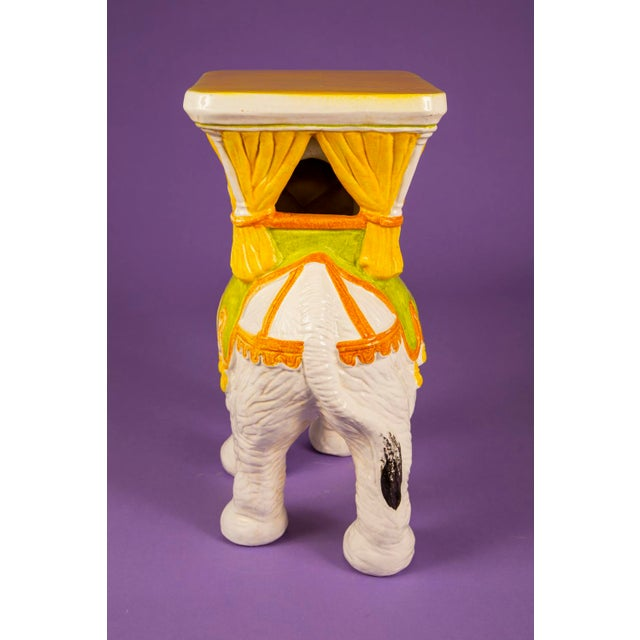 1960's Mid-Century Hand Painted Italian Elephant Plant Stand For Sale - Image 4 of 6