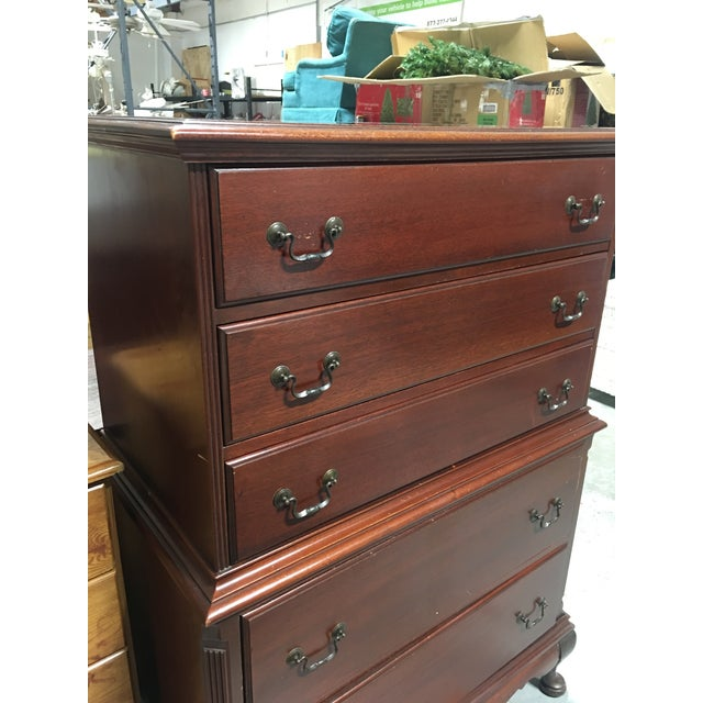 Continental Furniture Antique Mahogany High Boy