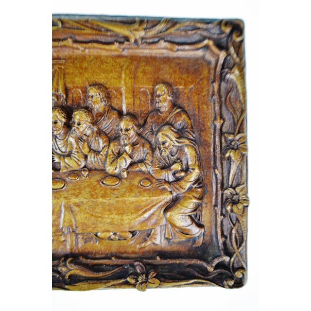 Mid 20th Century Vintage Last Supper Resin Wall Plaque For Sale - Image 5 of 12