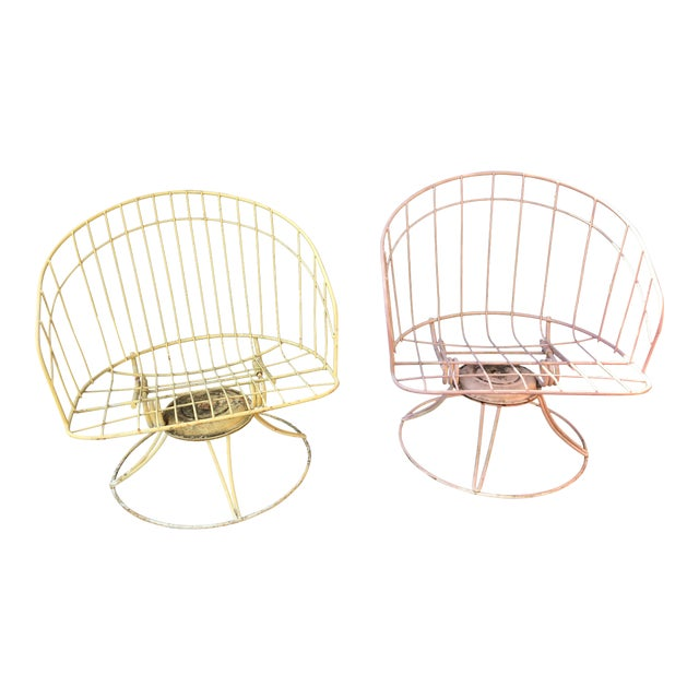 Mid-Century Metal Bouncer Chairs - A Pair - Image 1 of 4