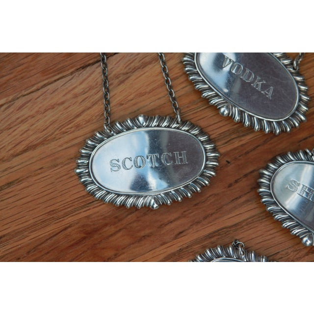 Vintage Sterling Silver Liquor Bottle Tags - S/7 - Image 5 of 6