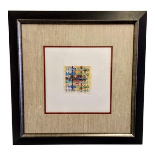 Vintage Abstract Print. Fabric Design. Signed and Framed Print