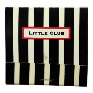Little Club Black & White Stripe Matchbook For Sale