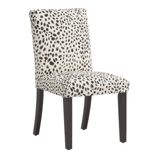 Dining Chair in Washed Cheetah Cream Gray For Sale