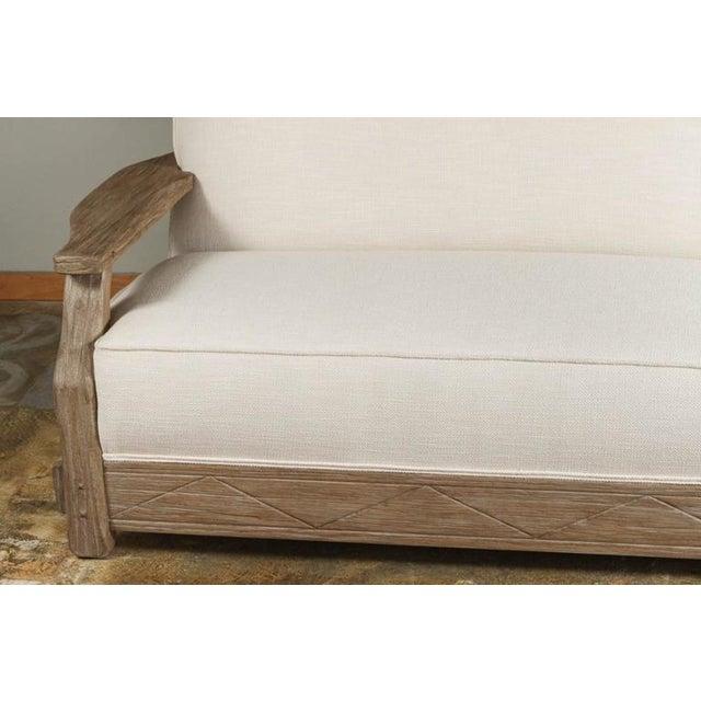 Mid-Century Distressed Oak Sofa - Image 3 of 6