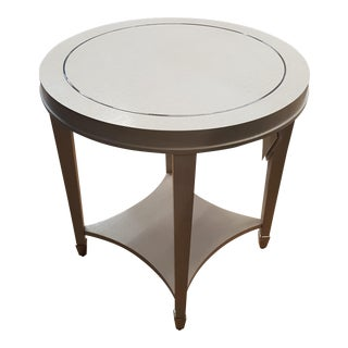 Bernhardt White Round End Table For Sale