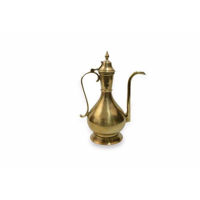 Bohemian Turkish Brass Kettle For Sale - Image 4 of 6