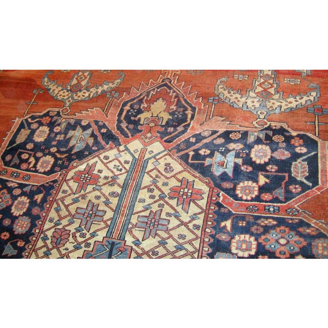 Islamic 1880s, Handmade Antique Persian Bakshaish Rug 11' X 15.7' For Sale - Image 3 of 10