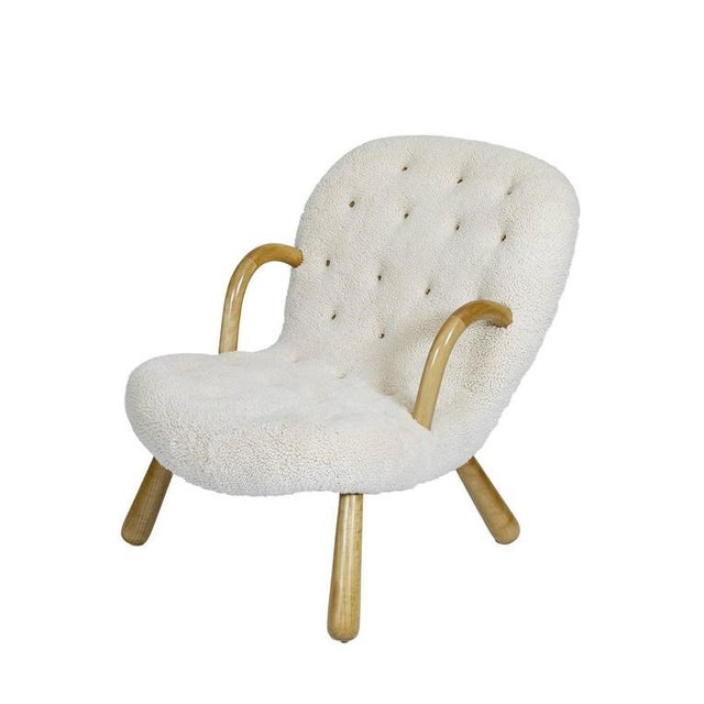 """Mid-Century Modern Philip Arctander """"Clam"""" Chair For Sale - Image 3 of 10"""
