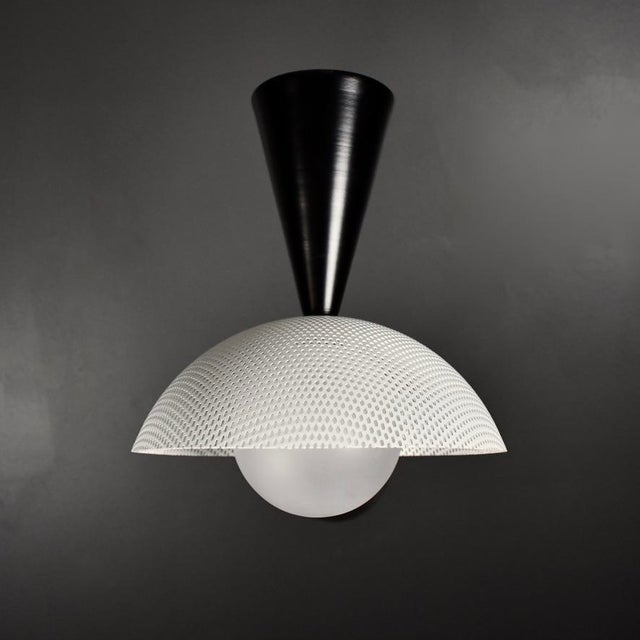 Molto Wall-Mount Reading Lamp in Bronze & Enameled Mesh by Blueprint Lighting For Sale In New York - Image 6 of 9