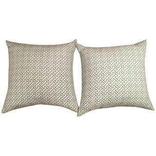 Caitlin Wilson Greek Key Pillow Covers - A Pair
