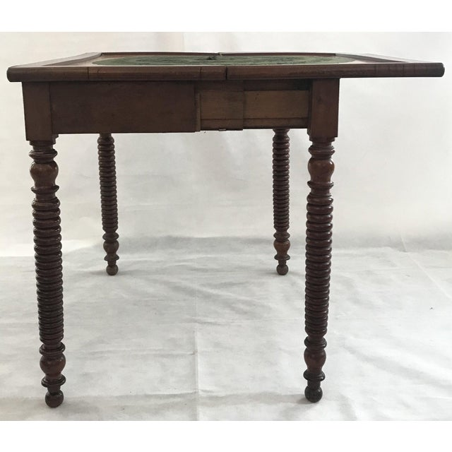 French Provincial 19th Century French Provincial Walnut Game Table or Console For Sale - Image 3 of 10
