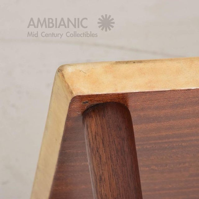 Animal Skin Italian Mid-Century Aldo Tura Side Table For Sale - Image 7 of 8