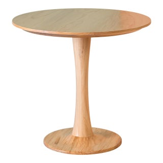 Penny Bistro Table in Solid Wood For Sale