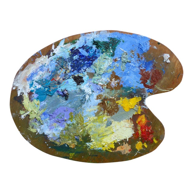 French Artist Oil Palette - Image 1 of 5