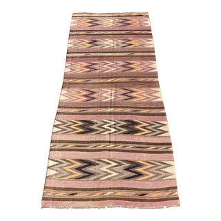 "Vintage Persian Kilim Area Rug - 4'9"" 1/2"" X11' For Sale"