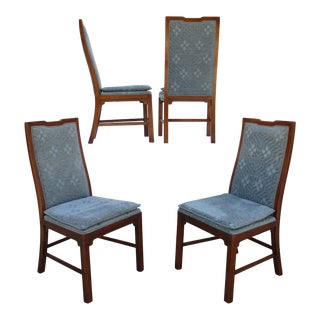 Michael Taylor for Baker Far East Collection Walnut Side Chairs -Set of Four For Sale