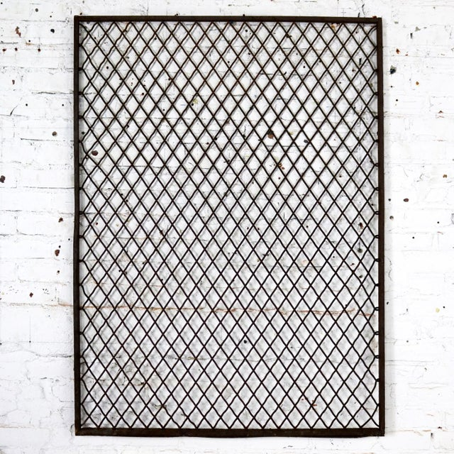 Antique Primitive Industrial Woven Wire Window Security Guard For Sale - Image 13 of 13