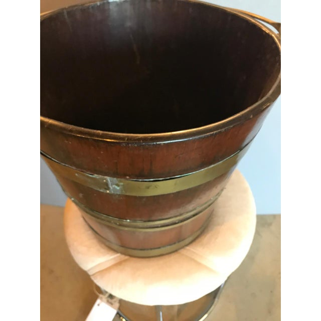 Antique English Mahogany Brass Bound Peat Bucket For Sale In Los Angeles - Image 6 of 8