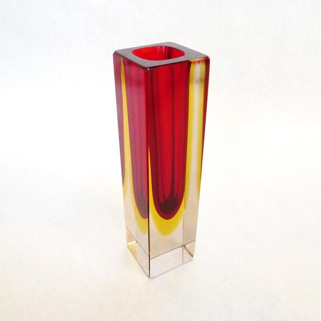 Seguso Vetri d'Arte Sommerso Glass Vase Attributed to Flavio Poli For Sale - Image 4 of 4