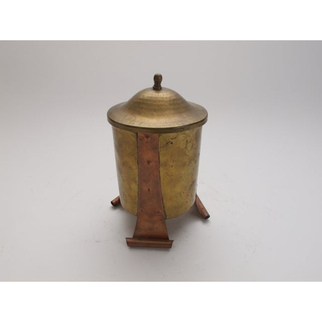 Antique Brass / Copper Canister with Lid - Image 4 of 4