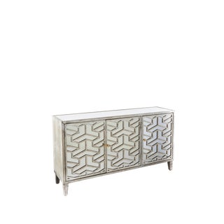 Hollywood Regency Nicoletta Mirrored Sideboard For Sale
