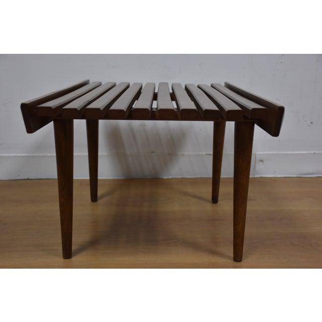 Mid-Century Modern Slatted Bench - Image 5 of 7