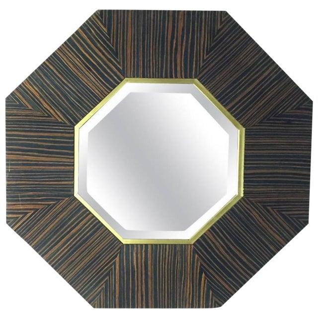 French Art Deco Macassar Ebony Mirror For Sale