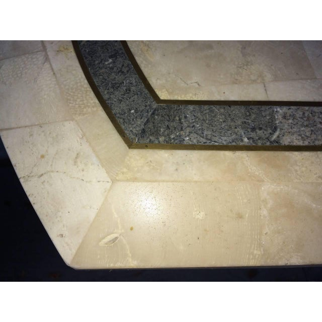 Maitland-Smith Tessellated Fossil Console Table For Sale - Image 9 of 11