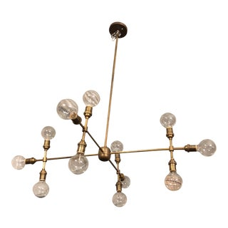 Apparatus 12 Light Compass Brass Chandelier