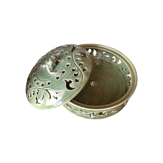 Handmade Ceramic Frog Incense Holder - Image 2 of 3
