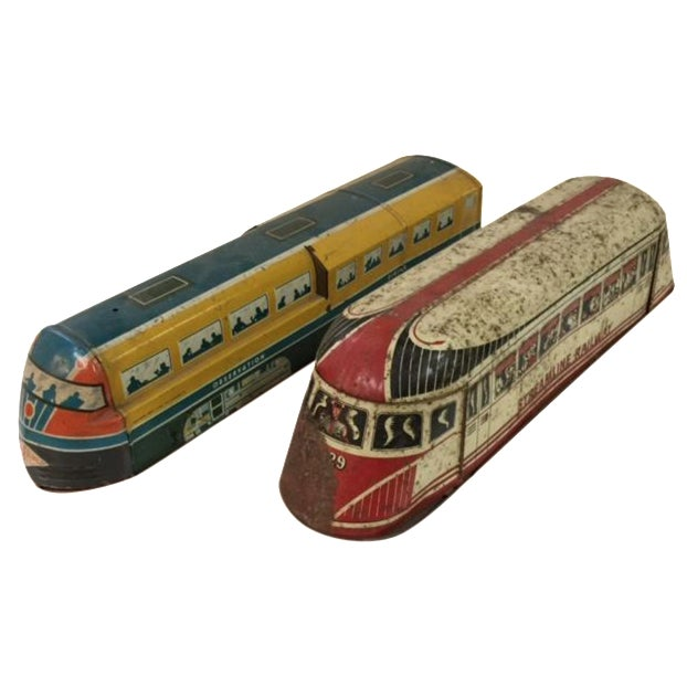 Vintage Tin Wolverine Streamline Pull Toys - Pair - Image 1 of 11