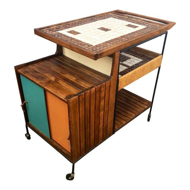 Arthur Umanoff Mid-Century Bar Cart For Sale
