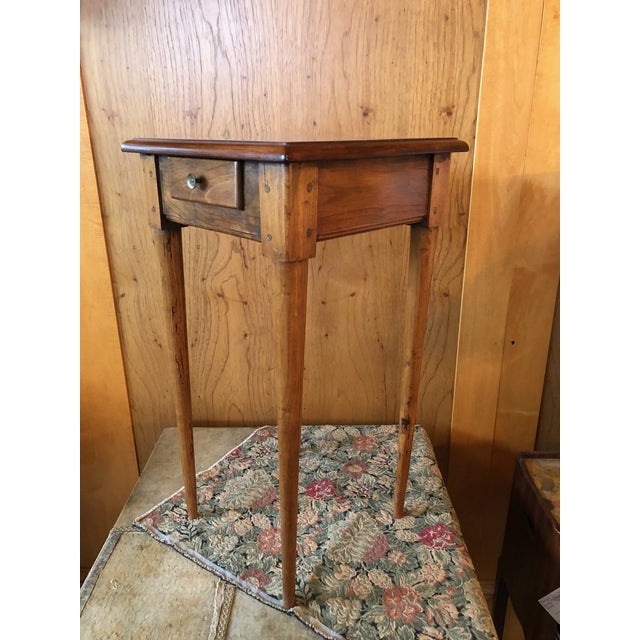 1800 French Fruitwood Petite One Drawer Side Table For Sale - Image 4 of 9
